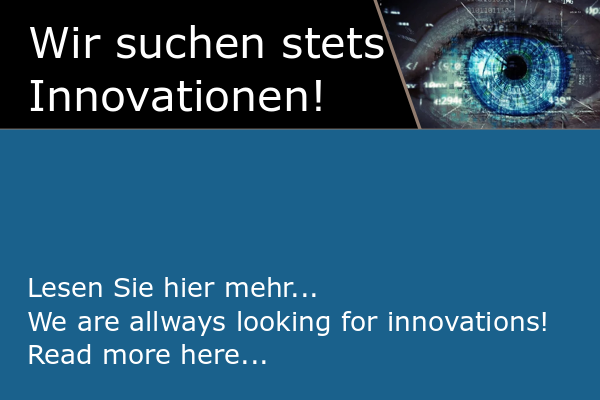 Wir suchen Ihre Innovationen   we are looking for your innovations