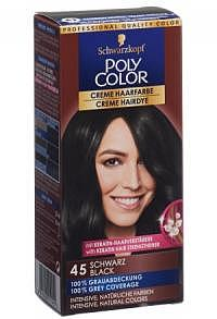 POLYCOLOR Creme Haarfarbe 45 schwarz