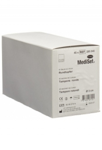 MEDISET IVF Rundtupfer 3cm steril 40 Btl 2 Stk