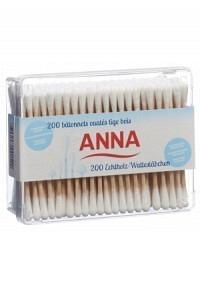 ANNA Wattestäbchen Holz 200 Stk