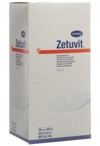 ZETUVIT Absorptionsverband 10x20cm steril 25 Stk