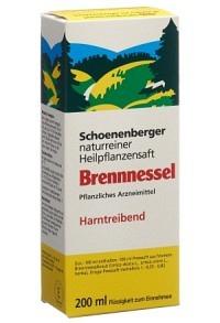 SCHOENENBERGER Brennnessel Heilpflanzensaft 200 ml