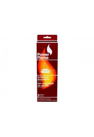 TRIO-Pack POWERFLAME Sicherheits Brennpaste 3 x 80 g