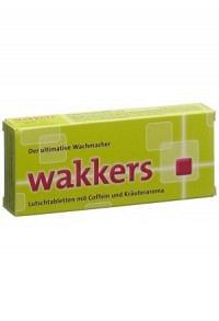 WAKKERS Lutschtabl Coffein und Kräuteraroma 22 Stk