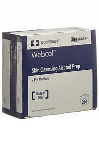 WEBCOL Alkoholtupfer 3.3x3.1cm steril 200 Stk
