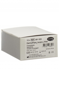 DERMAPLAST ISOPOR Fixierpf 2.5cmx10m vl we 12 Stk