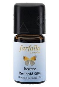 FARFALLA Benzoe Siam Resinoid 50% Äth/Öl Bio 5 ml