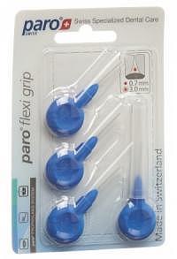 PARO Flexi Grip 3mm x-fine blau zylindrisch 4 Stk