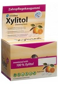MIRADENT Xylitol Kaugummi Frucht 12 x ..