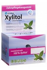 MIRADENT Xylitol Kaugummi Mint 12 x 30..