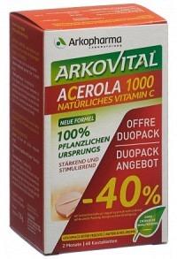 ARKOVITAL Acerola Arko Tabl 1000 mg Duo 2 x 30 Stk