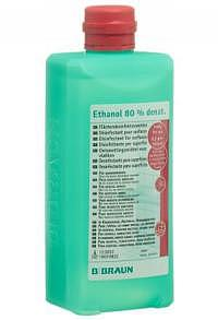 DUO-Pack BRAUN Ethanol 80 % für Flächen Ovalflasche 500 ml