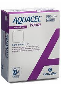 AQUACEL FOAM nicht-adhäsiv 5x5cm 10 Stk