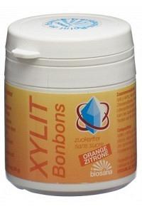 BIOSANA Xylit Bonbons Orange/Zitrone 80 Stk