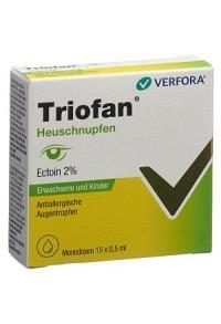 TRIOFAN Heuschnupfen Gtt Opht Monodos 15 x 0.5 ml