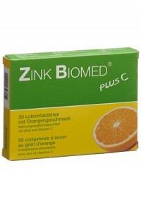 ZINK BIOMED plus C Lutschtabl Orange 50 Stk