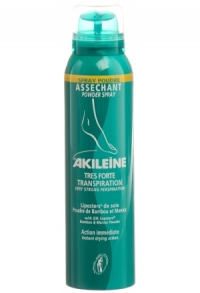 AKILEINE Grün Fusspuder Spray 150 ml