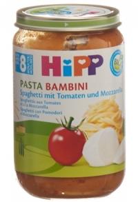 HIPP Pasta Bambini Spaghetti Tomat Mozzar 8M 220 g