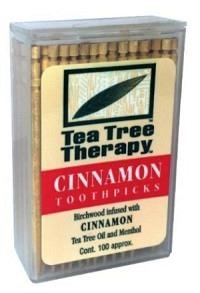 TEA TREE THERAPY Zahnstocher Zimt 100 Stk