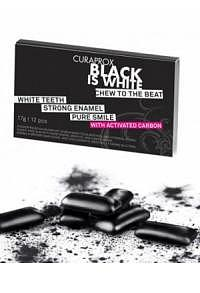 CURAPROX Black is White Kaugummi Blist 12 Stk