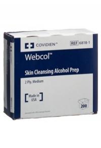 WEBCOL (PI-APS) Alkoholtupf 3.3x3.1cm ster 200 Stk