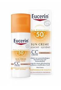 EUCERIN Sun CC getö Gesichtscr Medium LSF50+ 50 ml