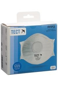 TECT FFP2 Schalenmaske mit Ventil 3 Stk
