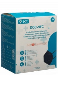 DOC-NFC FFP2 Faltmaske schwarz 30 Stk