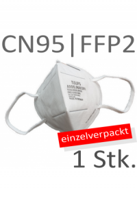 SCHUTZMASKE  Tulips ear-loop KN95 | FFP2 Einzelverpackt      1 Stk.