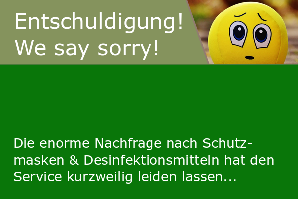 Wir möchten uns entschuldigen!