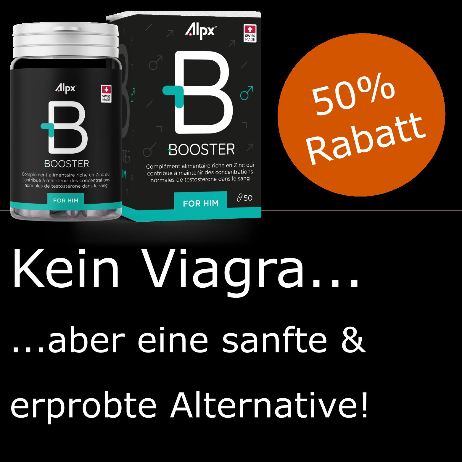 Kein Viagra, aber eine sanfte & erprobte Alternative!