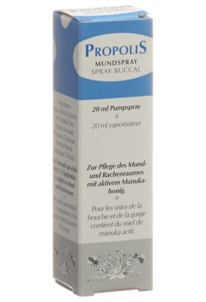 propolis mundspray mit aktiven manukahonig 20 ml. Black Bedroom Furniture Sets. Home Design Ideas