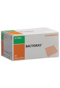 BACTIGRAS Gazeverband 5cmx5cm 50 Btl