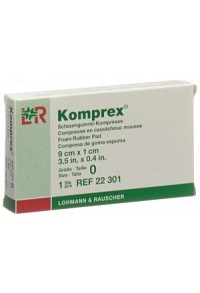 KOMPREX Schaumgummi Kompresse 9x5x1cm