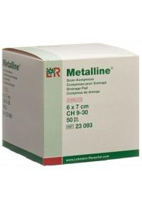 METALLINE Drain Kompressen 6x7cm steril Btl 50 Stk