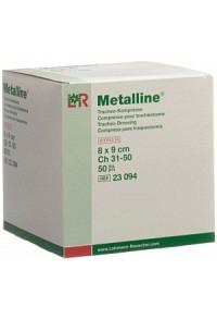METALLINE Tracheo Kompresse 8x9cm steril 50 Stk