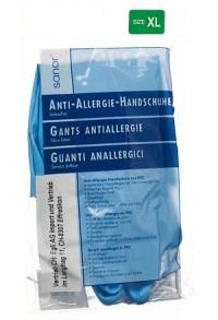 SANOR Anti Allergie Handschuhe PVC XL blau 1 Paar