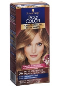 POLYCOLOR Creme Haarfarbe 36 mittelaschblond