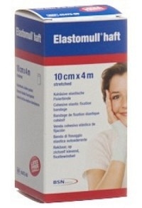 ELASTOMULL HAFT Gazebinde weiss 4mx10cm Rolle