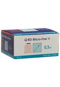 BD MICRO-FINE+ U100 Ins Spr 12.7x0.33 100 x 0.5 ml