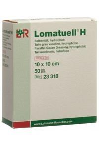 LOMATUELL H Salbentüll 10x10cm steril 50 Stk