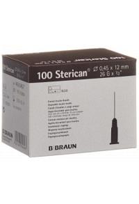 STERICAN Nadel 26G 0.45x12mm braun Luer 100 Stk