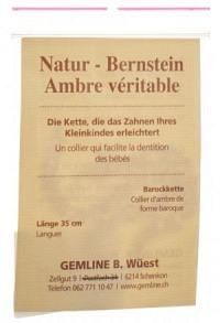 KERN Natur Bernstein Barockkette 35cm Bébé