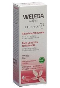 WELEDA Ratanhia Zahncreme Tb 75 ml