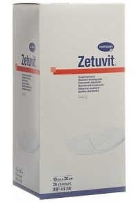 ZETUVIT Absorptionsverband 10x20cm steril 25 Stk