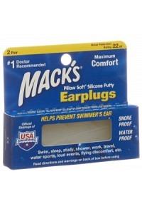 MACKS Earplugs transparent 2 Paar