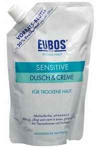 EUBOS Sensitive Dusch + Creme refill 400 ml