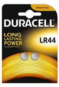 DURACELL Batt f Uhr+Rechner LR44 1.5V Blist 2 Stk