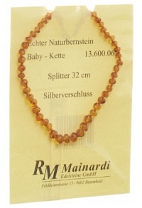 MAINARDI Natur Bernstein 32cm Splitt Silberverschl