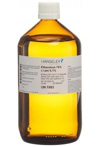 HÄNS Ethanolum 70 % c cam 0.1% 1 lt | Alkohol 70% mit 0% Kampfer